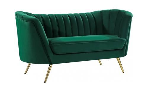 Outstanding Margo Green Velvet Loveseat By Meridian Furniture Machost Co Dining Chair Design Ideas Machostcouk