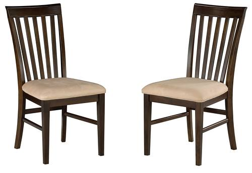 Mission Dining Chairs Antique Walnut w/Oatmeal Cushion Seat by Atlantic  Furniture - Dining Chairs Antique Walnut W/Oatmeal Cushion Seat By Atlantic