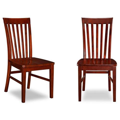 Mission Dining Chairs Antique Walnut w/Wood Seat - Mission Dining Chairs Antique Walnut W/Wood Seat By Atlantic Furniture