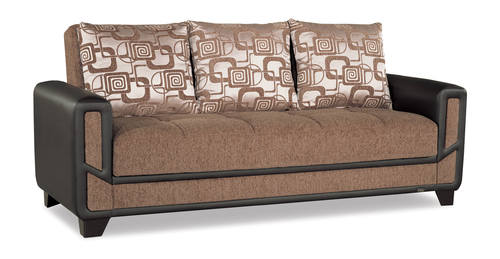 Mondo Modern Brown Convertible Sofa Bed