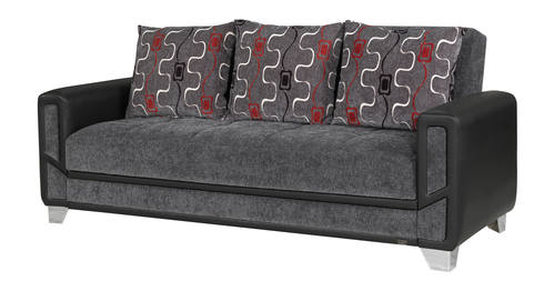 Mondo Modern Gray Convertible Sofa Bed