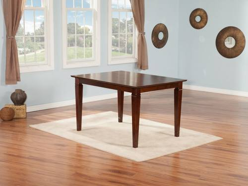 Montego Bay 36 X 48 Dining Table Antique Walnut By Atlantic Furniture