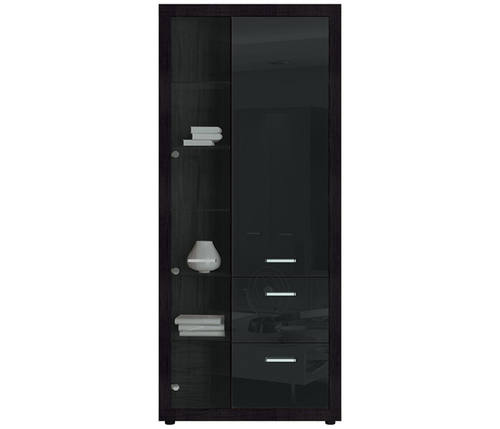 Mlle Black China Cabinet W 1 Door And 2 Drawers