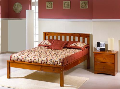 Mission Platform Bed Cherry By Innovations