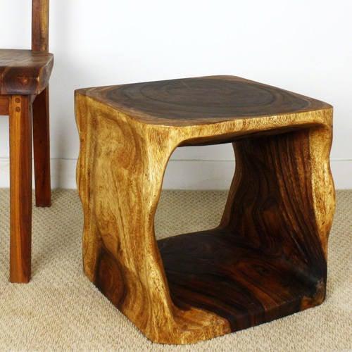 Square Natural Edge Table