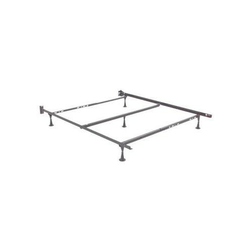 Queen Adjustable Metal Bed Frame W Glide Supports