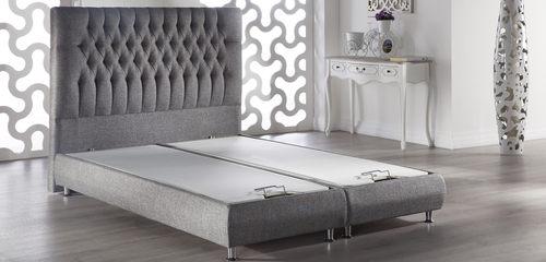 26ed6593e4668 Prince Storage Bed w Tufted Headboard Diego Gray by Istikbal Furniture