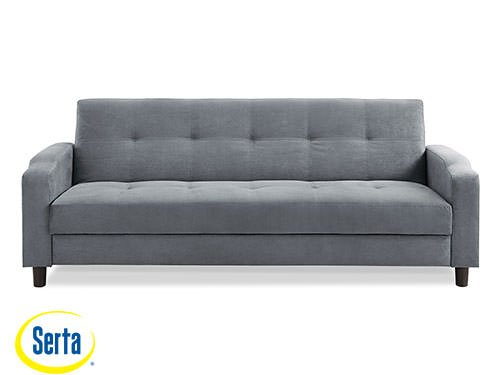 Reno Convertible Sofa Dark Grey