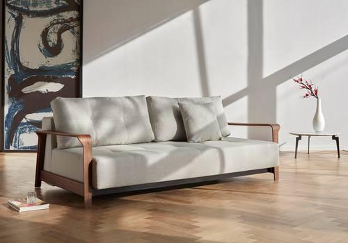 Ran Deluxe Excess Sofa Bed Queen Size Begum Dark Brown By
