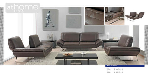 roxi chocolate full italian leather sofa by at home - Italian Leather Sofa