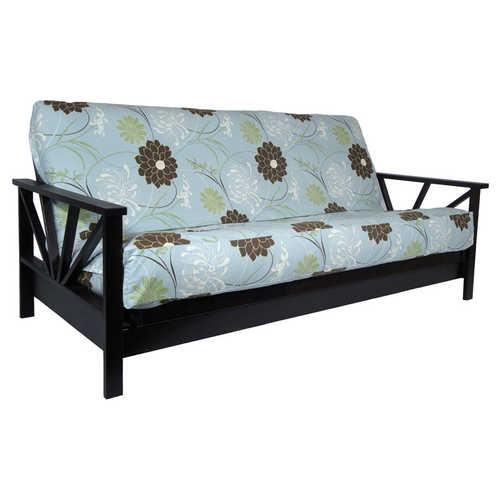 Black Walnut Queen Wall Hugger Futon Frame by Strata Furniture