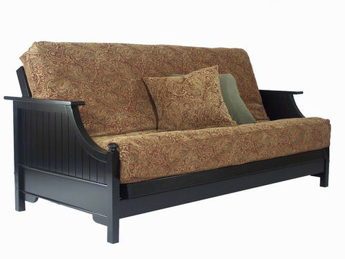 Devonshire Black Paint Queen Wall Hugger Futon Frame
