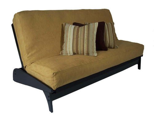 Dillon Painted Black Full Wall Hugger Futon Frame