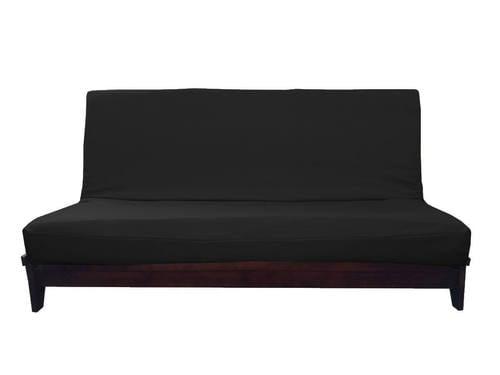 Sachi Black Linen Like Texture Futon Cover