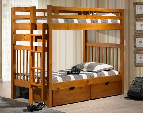 Sacramento Bunk Bed Pecan By Innovations