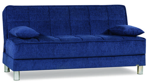 Smart Fit Navy Blue Convertible Sofa
