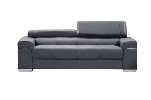 Soho Premium Italian Leather Sofa Gray