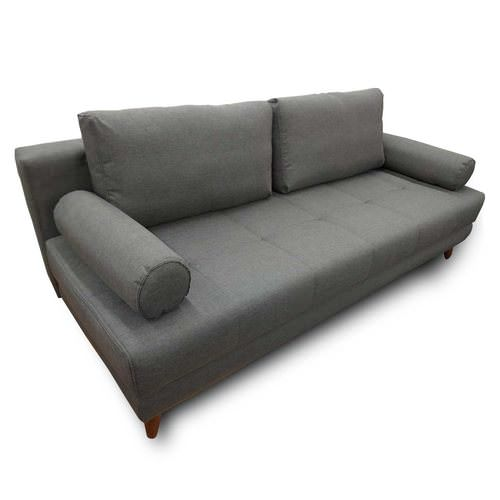 Stella Diego Dark Gray Convertible Sofa Bed (Queen Sleeper) by Istikbal  Furniture