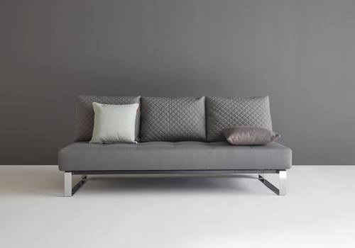 Supremax Quilt Sofa Bed Full Size Coastal Seal Gray By Innovation