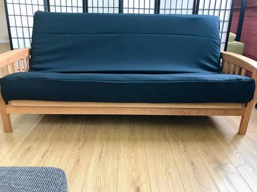 synthetic black futon cover queen  rh   futonland