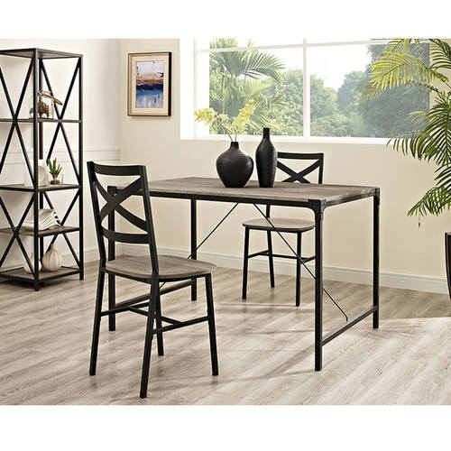 Incroyable Angle Iron 48 Inch Wood Dining Table   Driftwood