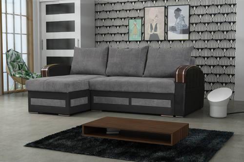 Merveilleux Tommy Gray Sectional Sofa Sleeper