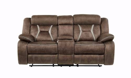 Groovy U0070 Sultry Dark Brown Pecan Fabric Console Reclining Loveseat By Global Furniture Alphanode Cool Chair Designs And Ideas Alphanodeonline