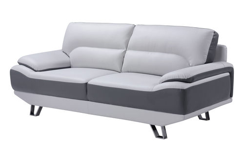 U7330 Light Grey/Dark Grey Bonded Sofa By Global Furniture