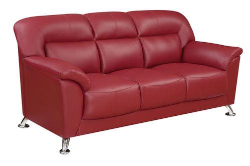 U9102 Red Vinyl Sofa