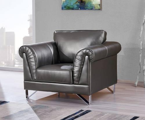 Beau U9160 Blanche Silver Leather Gel Chair