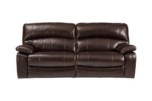 damacio power dark brown reclining sofa by ashley furniture