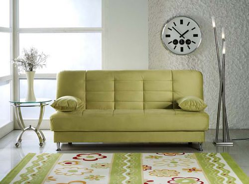 Vegas Rainbow Green Convertible Sofa Bed