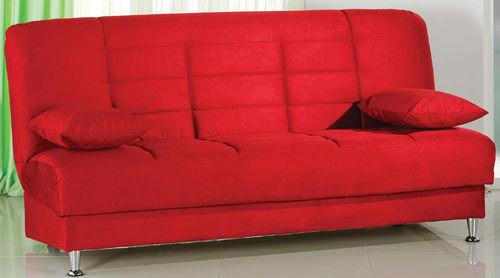 Vegas Rainbow Red Convertible Sofa Bed