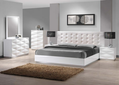 Verona White Bedroom Set by J&M Furniture