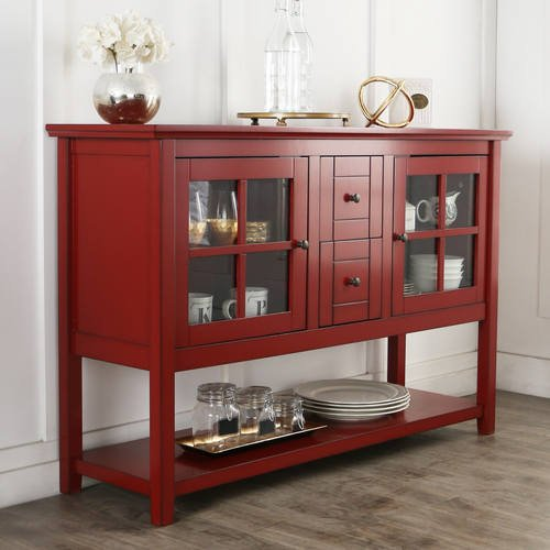 Inch TV Console Table Antique Red By Walker Edison - Buffet tv