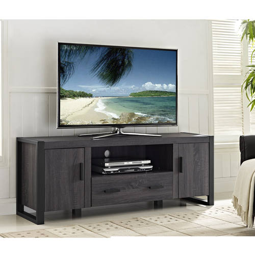 Urban Blend 60 Inch Tv Stand Charcoal Black By Walker Edison