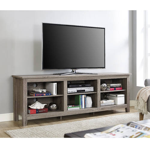 Essentials 70 Inch Tv Stand Driftwood By Walker Edison