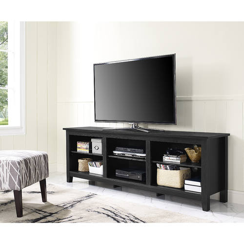 Essentials 70 Inch Tv Stand Black By Walker Edison