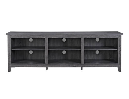 70 Inch Wood Media Tv Stand Storage Console Charcoal By Walker