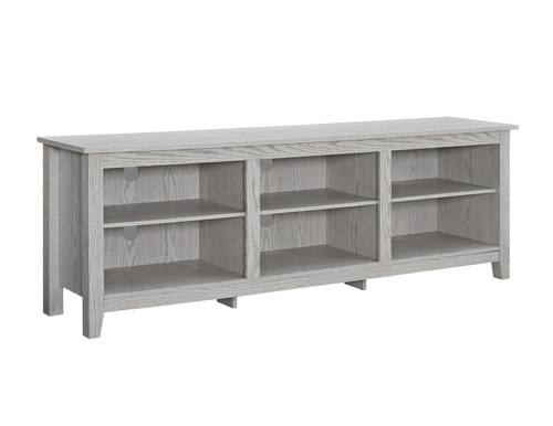 70 Inch Wood Media Tv Stand Storage Console White Wash By
