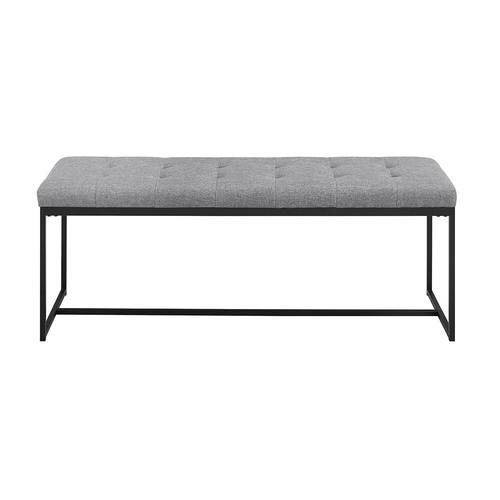48 Inch Upholstered Tufted Bench Grey By Walker Edison