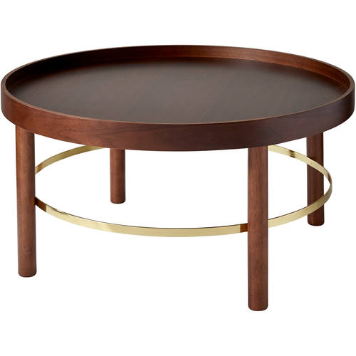 coffee table (walnut/gold)adesso furniture
