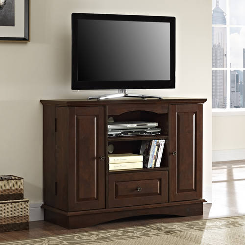 Highboy 42 Inch Tv Stand Brown By Walker Edison