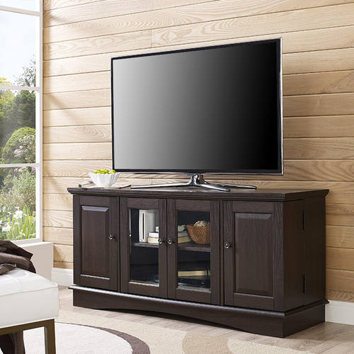 52 Inch Espresso Wood Tv Stand By Walker Edison