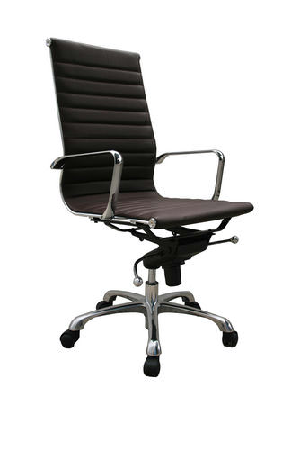 high back office chair brownj&m
