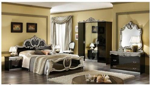 Barocco Black Silver U0026 Gold Camel Bedroom Set