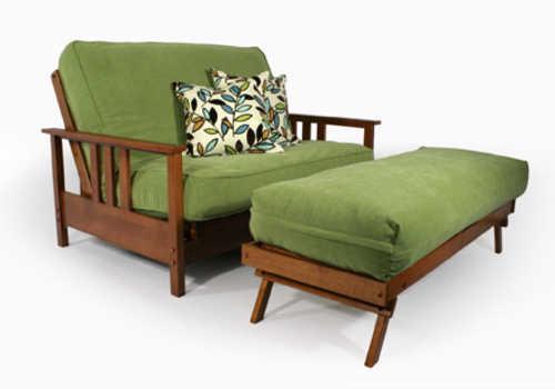 Warm Cherry Queen Loveseat Wall Hugger Futon Frame by Strata Furniture