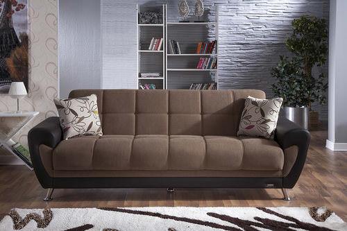 duru optimum brown convertible sofa bed by sunset