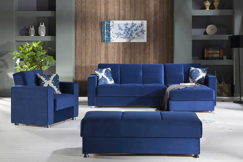 Elegant Roma Navy Sectional Sofa