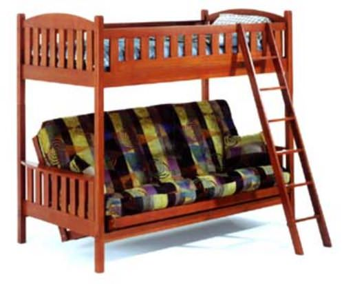 Castle Bunk Bed Twin over Full Futon by JM Furniture